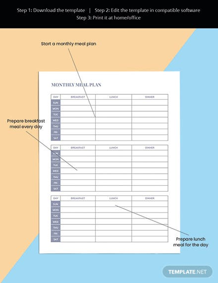 Family Meal Planner Template Sample