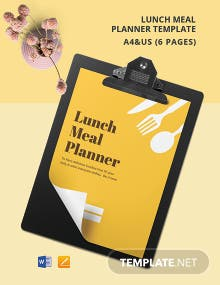 Lunch Meal Planner Template