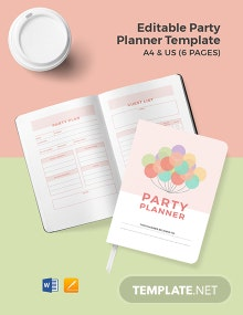 Free Editable Party Planner Template