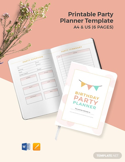 Free Printable Party Planner Template