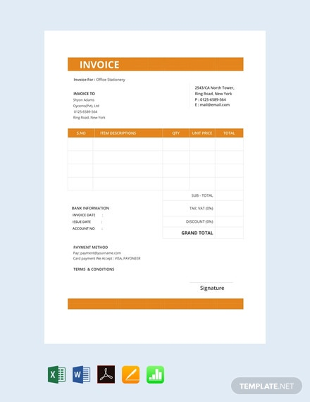 26 Free Business Invoice Templates In Pdf Template Net