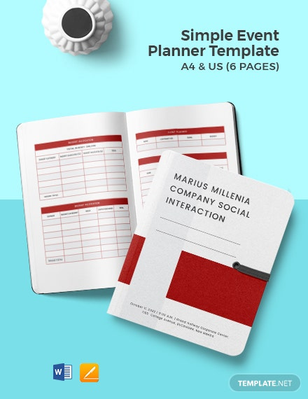 Free Simple Event Planner Template