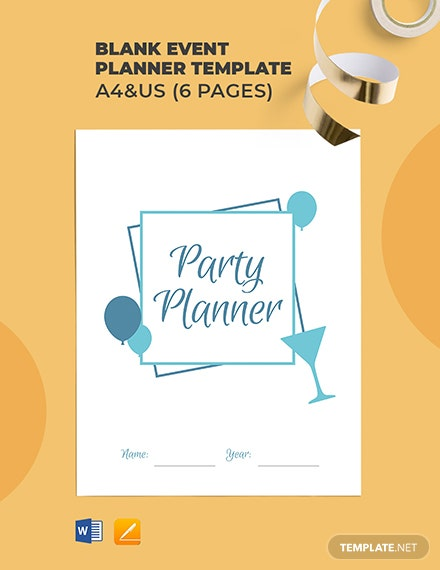 Free Blank Event Planner Template