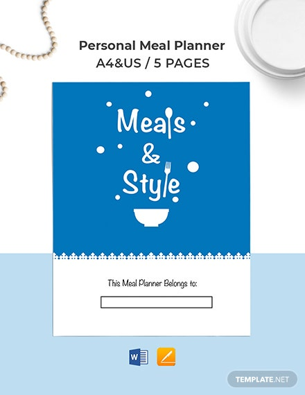 Personal Meal Planner Template