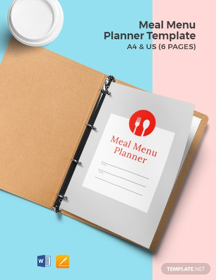 Meal Menu Planner Template