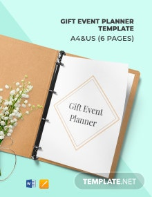Gift Event Planner Template