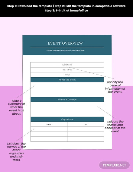 Online Event Planner Example