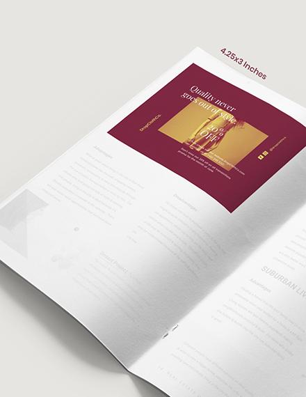Customizable Fashion Magazine Ad Format
