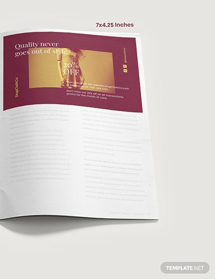 Customizable Fashion Magazine Ad Example
