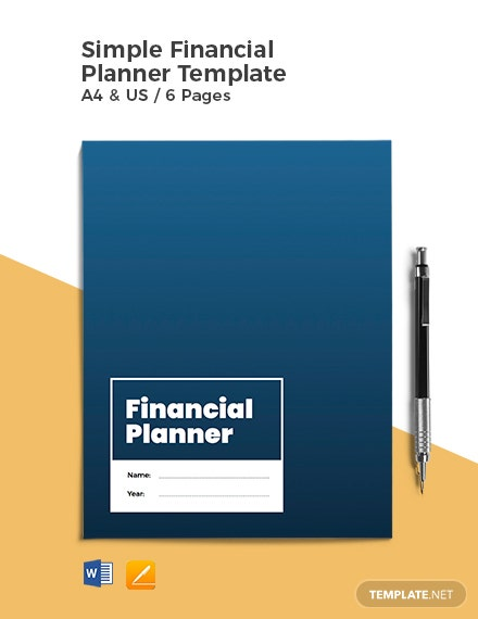 Free Simple Financial Planner Template