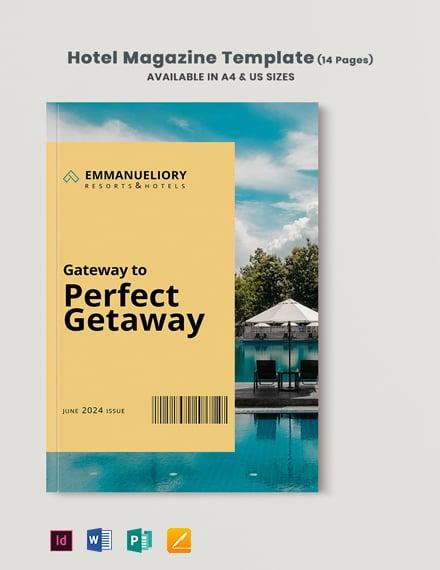 Hotel Magazine Template