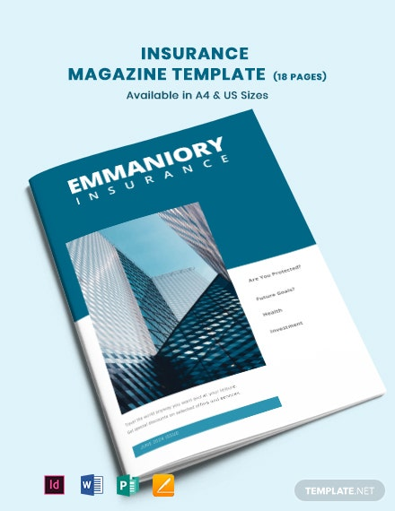 Insurance Magazine Template