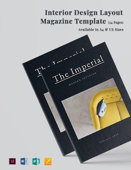 Interior Design Layout Magazine