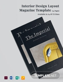 Interior Design Layout Magazine Template