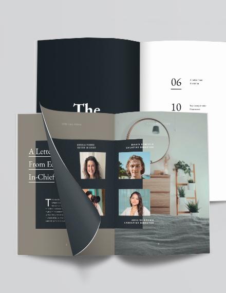 Interior Design Layout Magazine Template