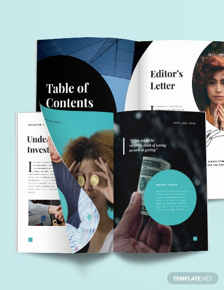 Investment Magazine Template