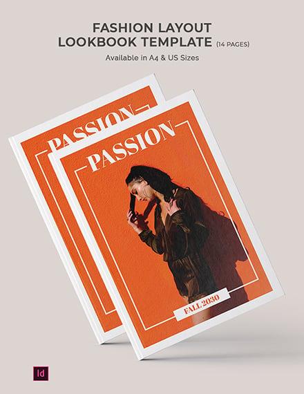 fashion layout lookbook