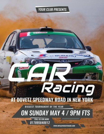 Car Racing Flyer Template