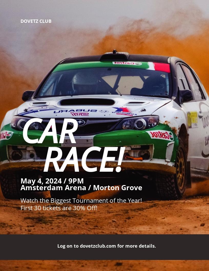 Car Racing Flyer Template.jpe