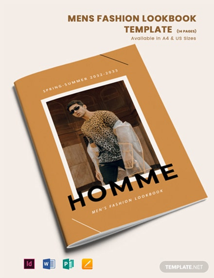 FashionMen's Fashion Lookbook Template