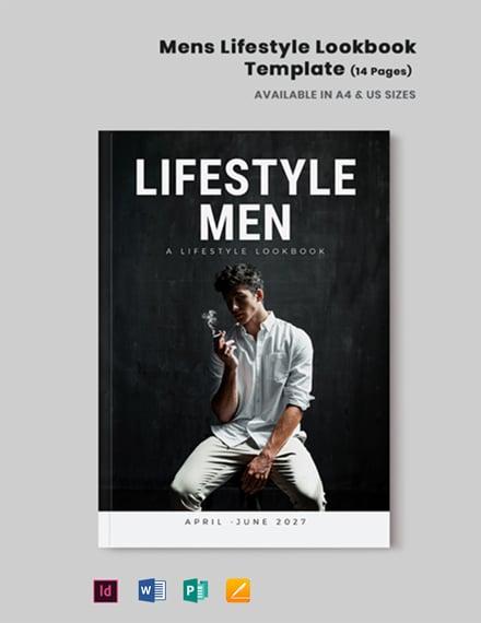Men's Lifestyle Lookbook Template