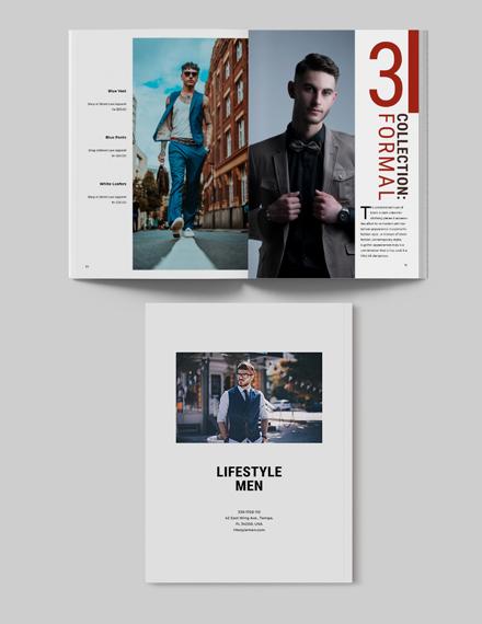 Sample Mens Lifestyle Lookbook