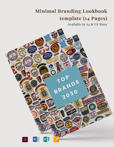 Free Minimal Branding Lookbook Template