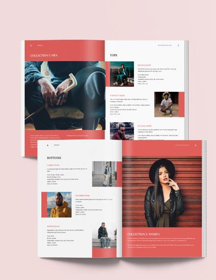 Printable Fashion Lookbook Download