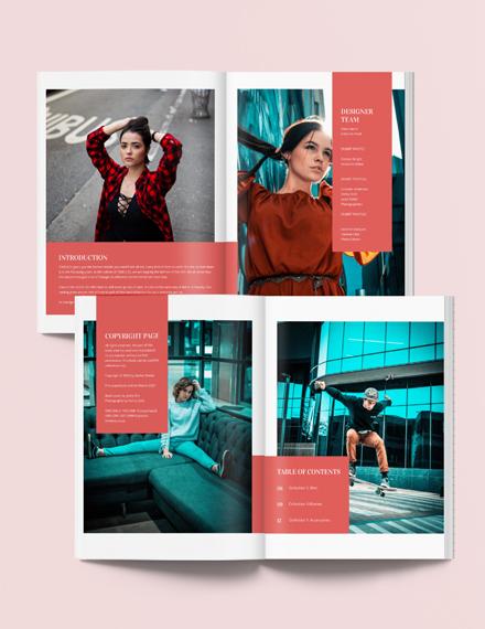 Printable Fashion Lookbook Template