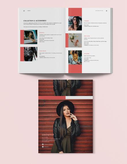 Sample Printable Fashion Lookbook