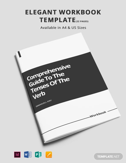 Free Elegant Workbook Template