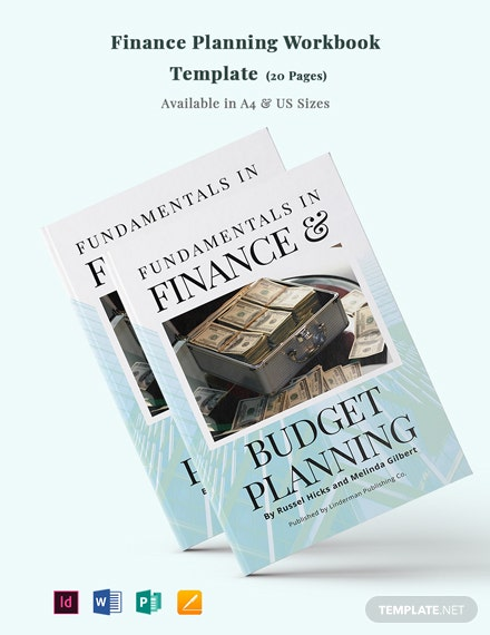 Finance Planning Workbook Template