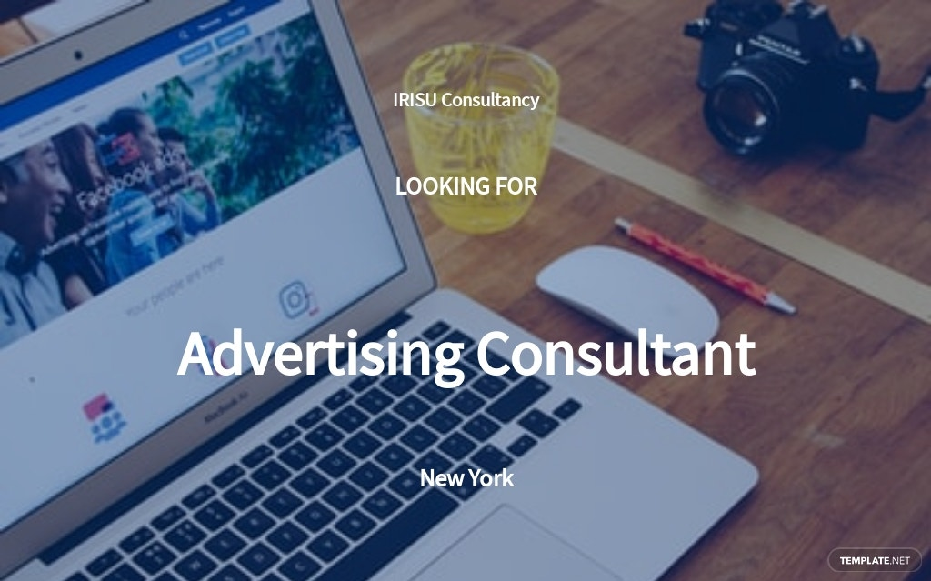 Advertising Consultant Job Description Template