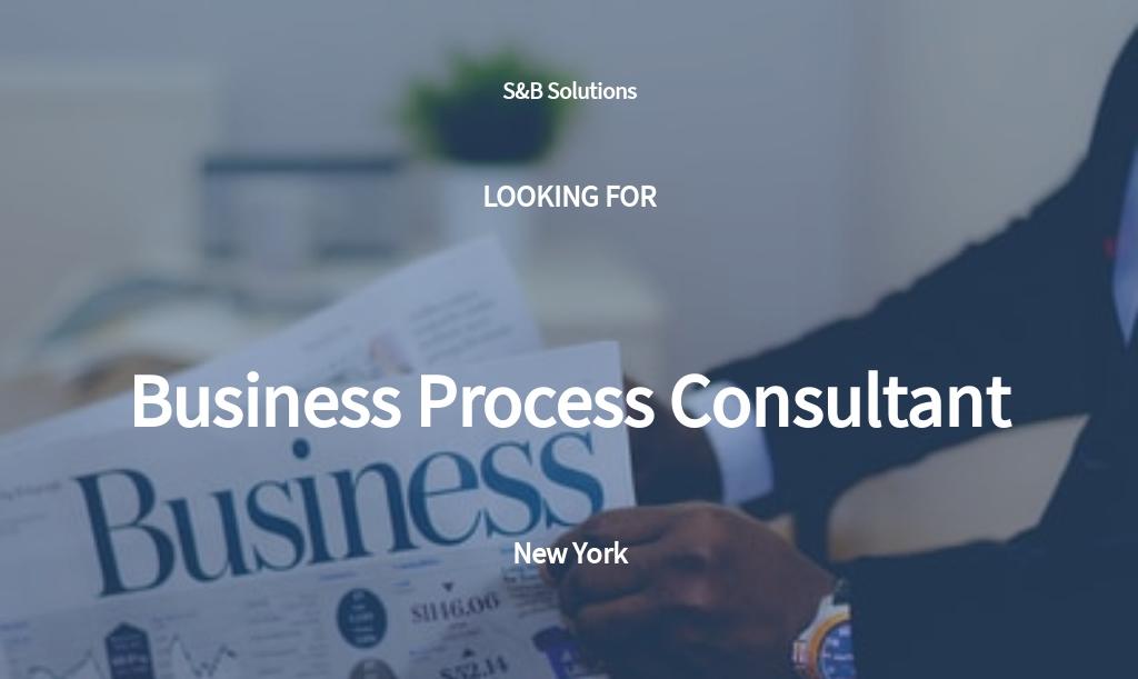 Business Process Consultant Job Description Template