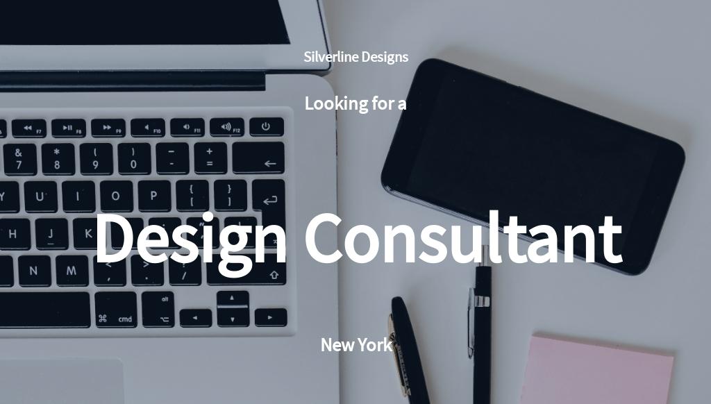 Design Consultant Job Ad/Description Template