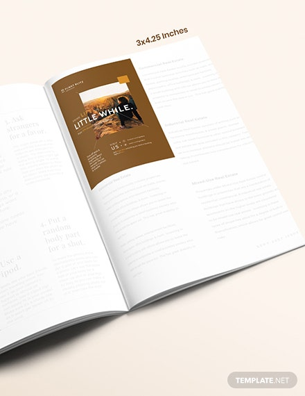Basic Travel Magazine Ads Template [Free PSD] - InDesign