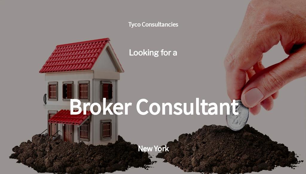 Broker Consultant Job Ad/Description Template