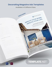 Free Decorating Magazine Ads Template