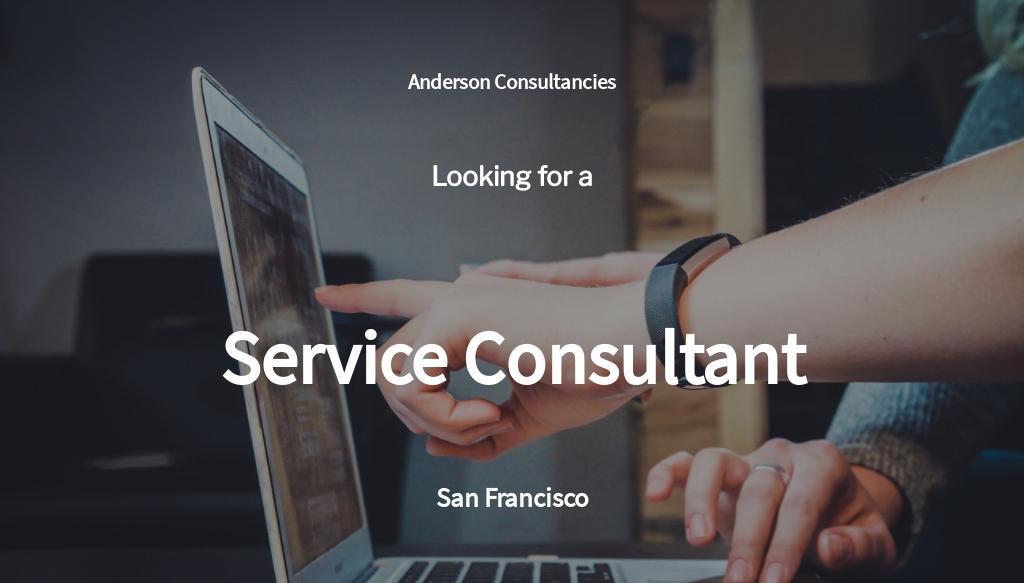 Service Consultant Job Ad/Description Template