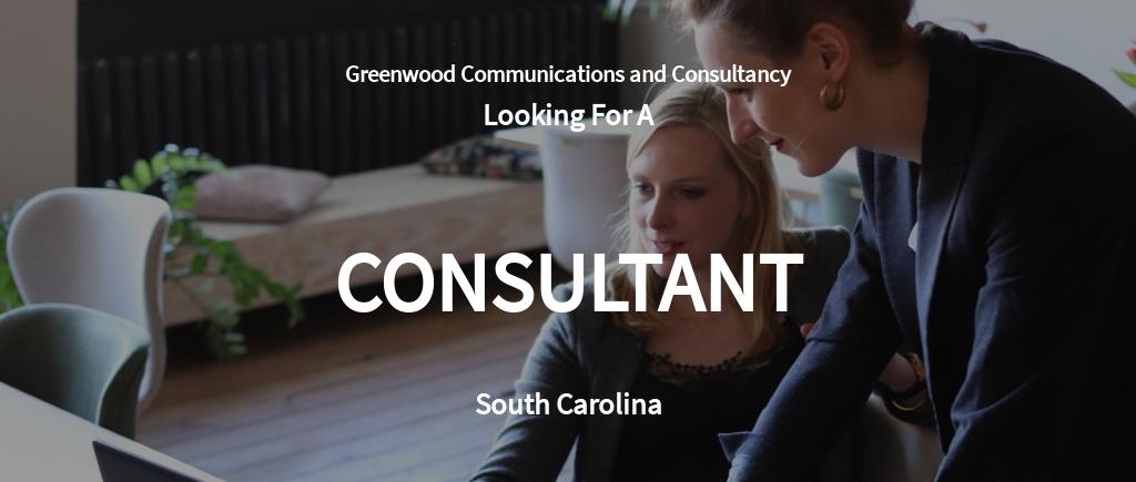 Consultant Job Ad/Description Template