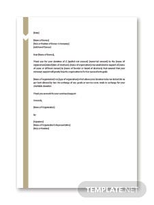 Free donation letters download editable printable template charitable donation letter template cheaphphosting Choice Image