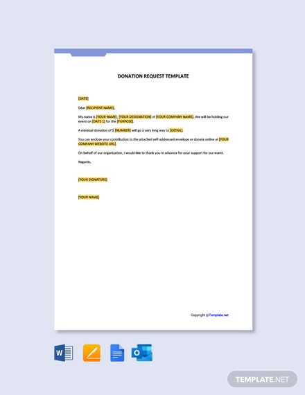 Printable Donation Request Letter Template