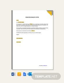 Free Donation Request Letter Format