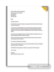 Donation Request Letter Format