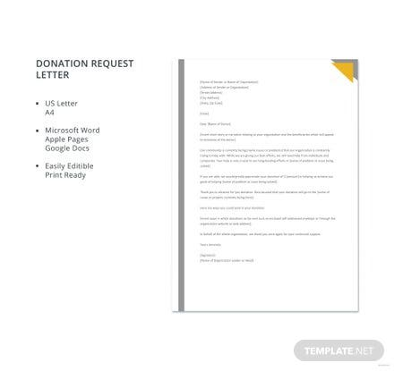 Donation Request Letter Format