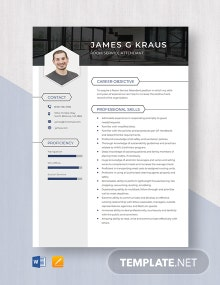 Room Service Attendant Resume Template