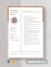 Rooms Controller Resume Template