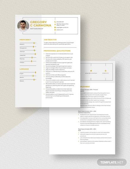 Root Cause Analyst Resume Download