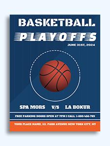 basketball flyer template word