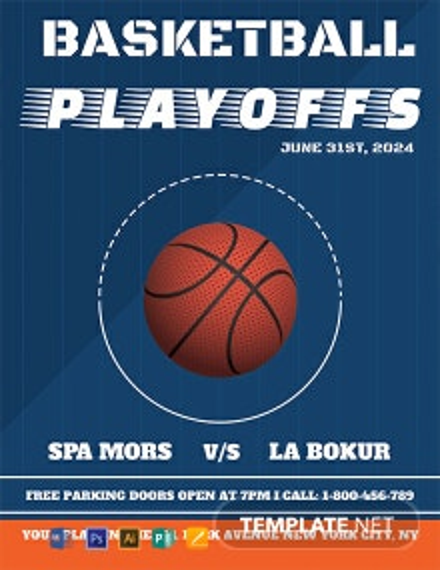 Free Basketball Flyer Template
